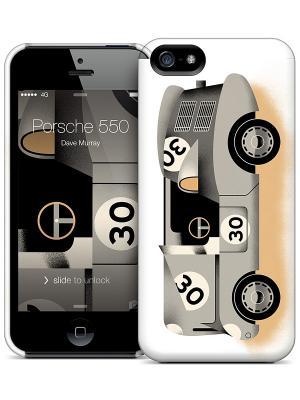 Чехол для iPhone 5/5S Porsche 550-Dave Murray Gelaskins. Цвет: белый, серый