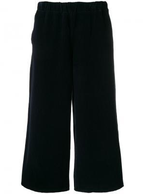Укороченные широкие брюки Labo Art. Цвет: синий