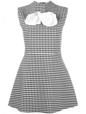 Платье в клетку A.W.A.K.E.. Цвет: чёрный