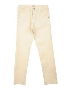 Джинсовые брюки TWIN-SET SIMONA BARBIERI. Цвет: бежевый