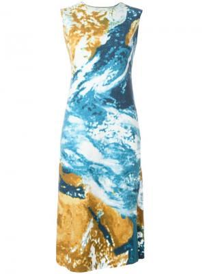 Платье шифт с абстрактным принтом Jc De Castelbajac Vintage. Цвет: многоцветный