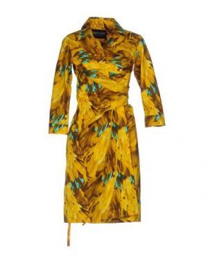 Короткое платье SAMANTHA SUNG. Цвет: желтый