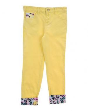 Джинсовые брюки BEETLEJUICE. Цвет: желтый