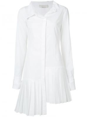 Платье-рубашка с длинными рукавами Monse. Цвет: белый
