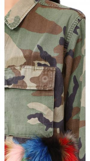 Camo Multi Fur Jacket Harvey Faircloth
