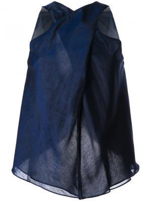 Блузка без рукавов Bianca Spender. Цвет: синий