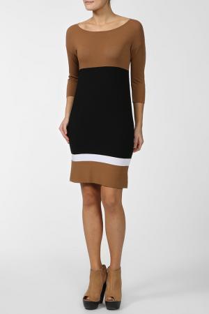 Платье Luisa Spagnoli. Цвет: коричневый