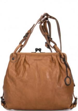 Кожаная сумка с одним отделом aunts & uncles. Цвет: коричневый
