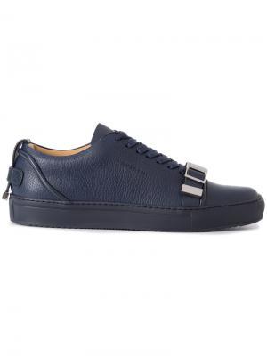 Кроссовки с пряжкой Buscemi. Цвет: синий