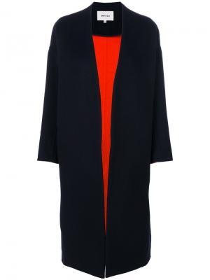 Пальто с глубоким V-образным вырезом Enföld. Цвет: синий