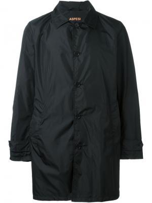Однобортное пальто Aspesi. Цвет: чёрный