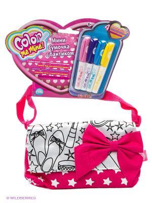 Мини-сумочка, 21 см, в комплекте 4 перманентных маркера, 1/12 Simba. Цвет: розовый