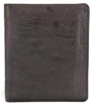 Черное кожаное портмоне aunts & uncles. Цвет: черный