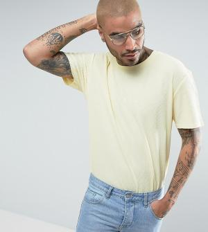 Puma Желтая oверсайз-футболка из вафельного трикотажа эксклюзивно для. Цвет: желтый