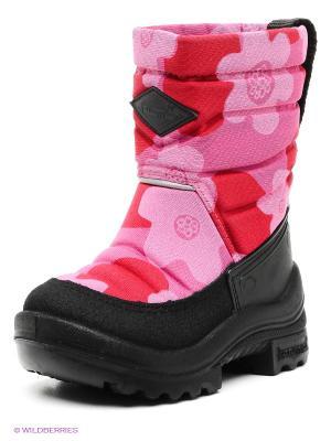 Полусапожки KUOMA. Цвет: розовый, красный, черный