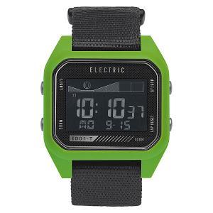 Часы  Ed01 Tide Nato Black/Green Electric. Цвет: черный,зеленый