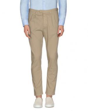Повседневные брюки 1° GENITO. Цвет: песочный