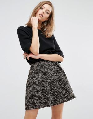 BA&SH Платье с юбкой из твида Demy. Цвет: мульти