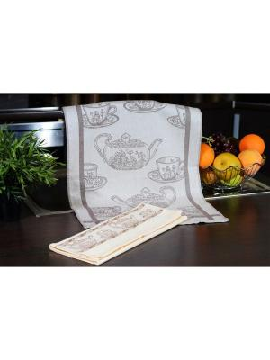Набор кухонных полотенец  КОФЕ кремовый (3х2шт.) 40х60 TOALLA. Цвет: кремовый