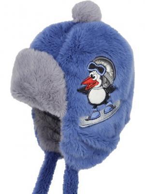 Шапка-ушанка Olle. Цвет: серо-голубой