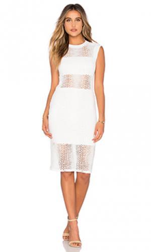 Платье boa crochet twenty. Цвет: белый