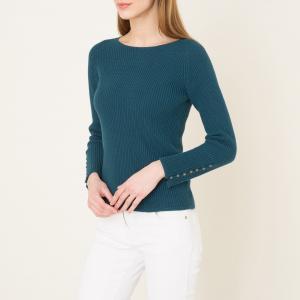 Пуловер BIWA SESSUN. Цвет: сине-зеленый