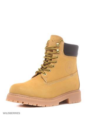 Ботинки GUT. Цвет: желтый
