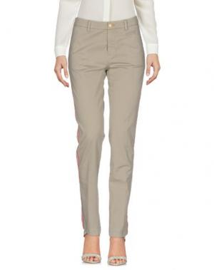 Повседневные брюки HISTORY. Цвет: голубиный серый