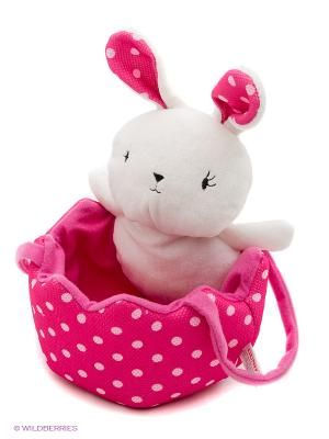 Игрушка мягкая (Polka Dots Easter Egg Hunting Bag , 20,5 см). Gund. Цвет: белый, малиновый