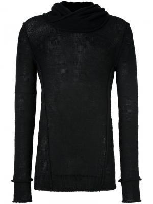 Пуловер с длинными рукавами и отворотной горловиной Masnada. Цвет: чёрный
