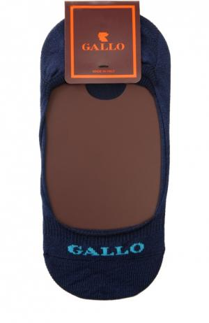 Хлопковые носки-подследники Gallo. Цвет: синий