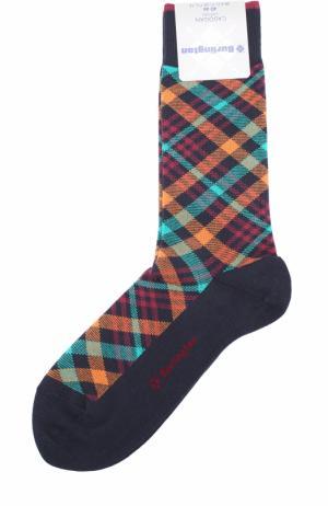 Хлопковые носки Cadogan Burlington. Цвет: темно-синий