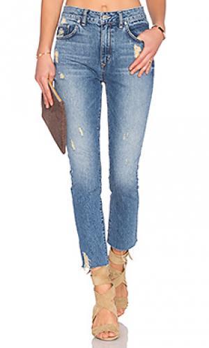 Зауженные джинсы с высокой талией logan Lovers + Friends. Цвет: none
