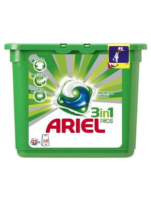Гель в растворимых капсулах Liquid Capsules Горный родник 23X28.8г Ariel. Цвет: зеленый