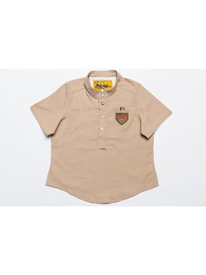 Рубашка Pilota. Цвет: бежевый