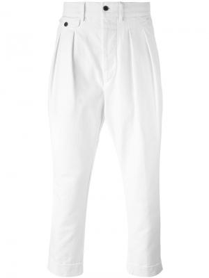 Укороченные брюки Wooster + Lardini. Цвет: телесный