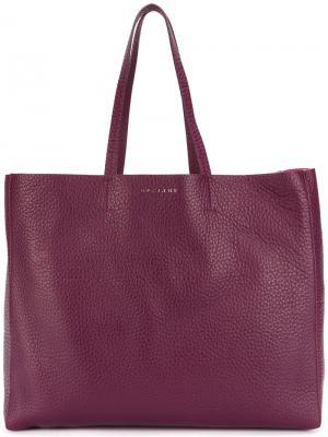 Сумка-шоппер Orciani. Цвет: розовый и фиолетовый