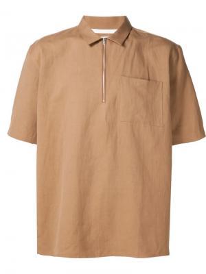 Рубашка с короткими рукавами Norse Projects. Цвет: коричневый