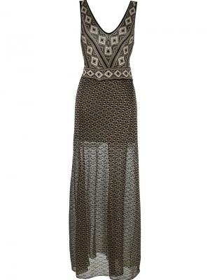 V-neck knit dress Cecilia Prado. Цвет: чёрный