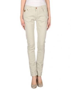 Джинсовые брюки APRIL 77. Цвет: светло-серый