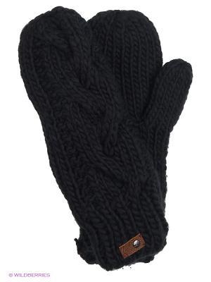 Варежки ROXY. Цвет: черный