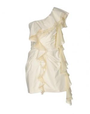 Короткое платье DANIELE CARLOTTA. Цвет: слоновая кость