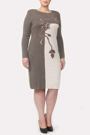 Платье Stillon. Цвет: бежевый