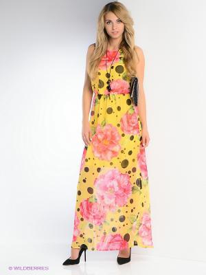 Платье FRENCH HINT. Цвет: желтый