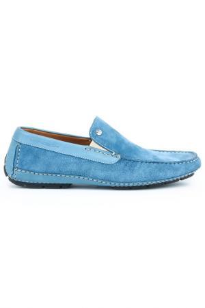 Мокасины Moreschi. Цвет: голубой