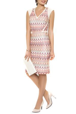 Платье E.LEVY. Цвет: мульти