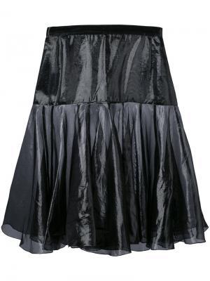 Flared layer skirt Krizia Vintage. Цвет: чёрный