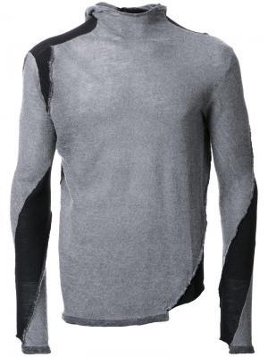 Джемпер с заплатками Masnada. Цвет: серый