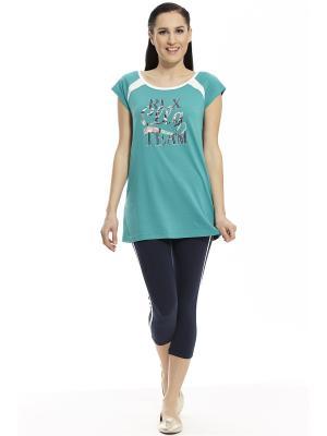 Пижама с леггинсами RELAX MODE. Цвет: синий