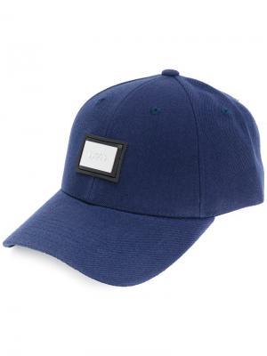 Бейсбольная кепка с бляшкой-логотипом Blood Brother. Цвет: синий